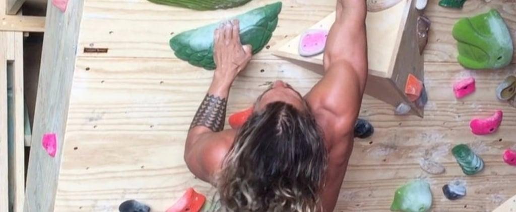 Jason Momoa Rock Climbing Videos September 2017