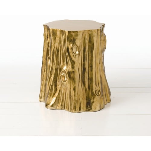 If I wanted to dream big, I'd ask Santa for this gold stump side table ($804) to glam up my living room. — Tara Block, assistant editor