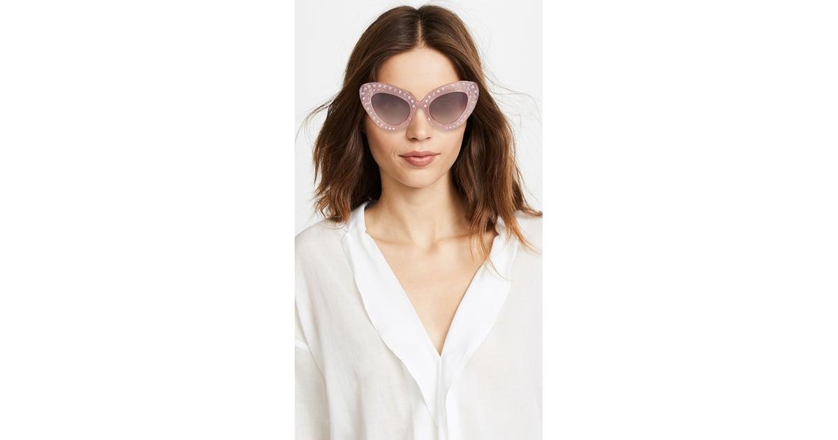 No. 21 Bold Cat Eye Sunglasses | Blake Lively Pink Chanel ...