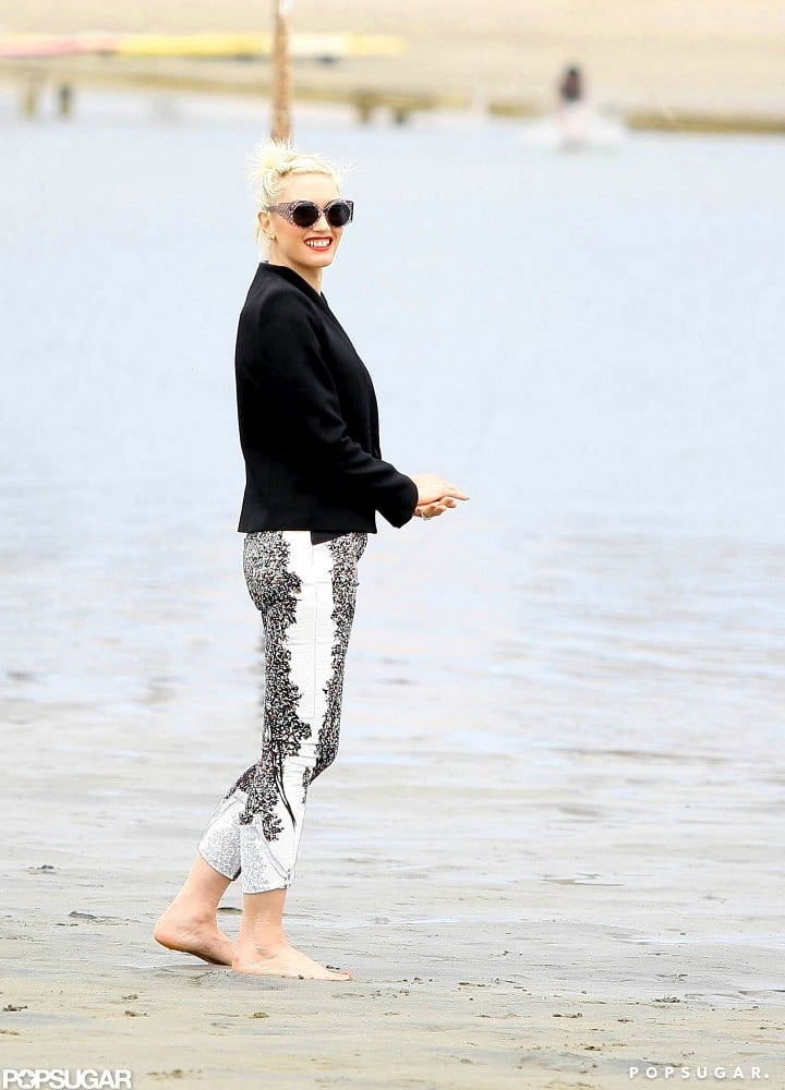 Gwen Stefani Hits the Beach With Her Rossdale and No Doubt Boys