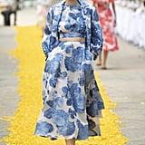 Puffy Sleeves on the Lela Rose Runway at New York Fashion Week