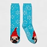 Women's Holiday Pug Casual Socks