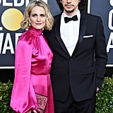 Joanne Tucker and Adam Driver at the 2020 Golden Globes