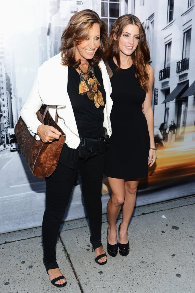 Ashley Greene and Donna Karen smiled at the DKNY Women's show.