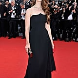 Lana Del Rey wore a black gown to the opening of the Cannes Film Festival and the premiere of Moonrise Kingdom.