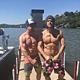 What's better than Stephen Amell shirtless? Two guys, shirtless and flexing. Thanks for participating, Jared Padalecki.