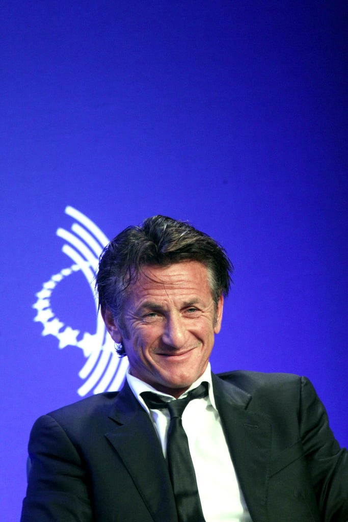 Sean Penn discussed Haiti during a panel on Wednesday.