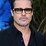 Brad sported his now-signature tinted glasses at an event for Angelina's film, Maleficent, in London in May 2014.