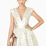 Nasty Gal Gold Brocade Dress