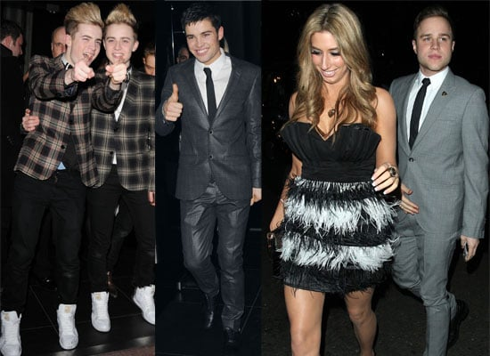 Photos of Joe McElderry, Stacey Solomon, John and Edward and Olly Murs at The X Factor Wrap Party, Plus Dermot O'Leary and Holly