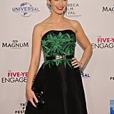 Emily Blunt arrived on the red carpet of the Five-Year Engagement premiere during the 2012 Tribeca Film Festival.