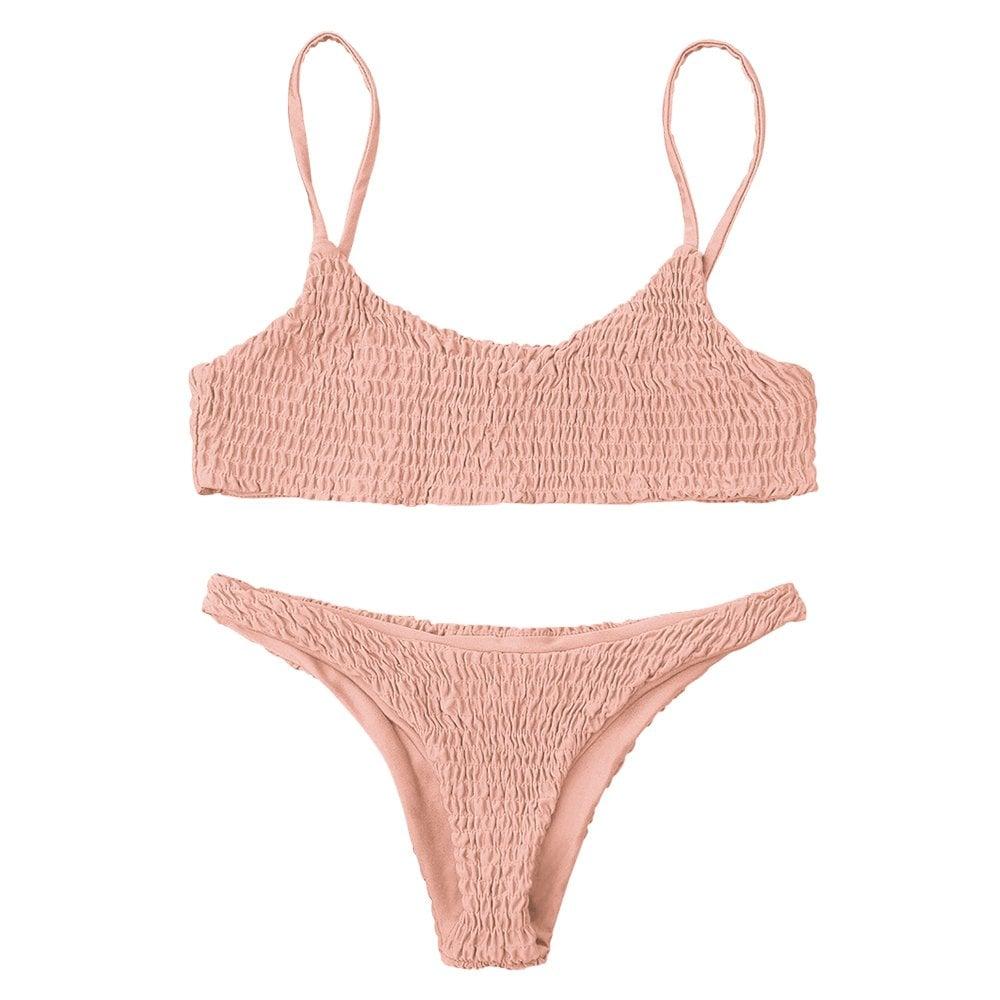Image result for smocked bikini top zaful