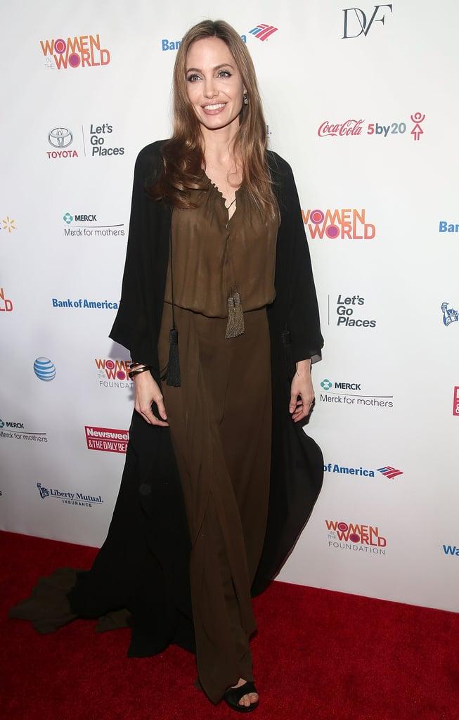 Angelina Jolie Pays Tribute to Pakistani Schoolgirl at the Women in the World Summit