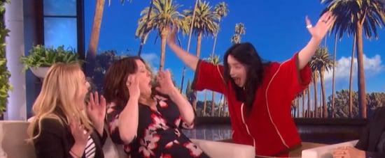 Billie Eilish Scares Melissa McCarthy on The Ellen Show