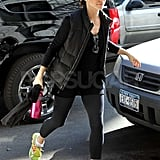 Sandra Bullock Gets Into Her Workout With Flashy Green Shoes