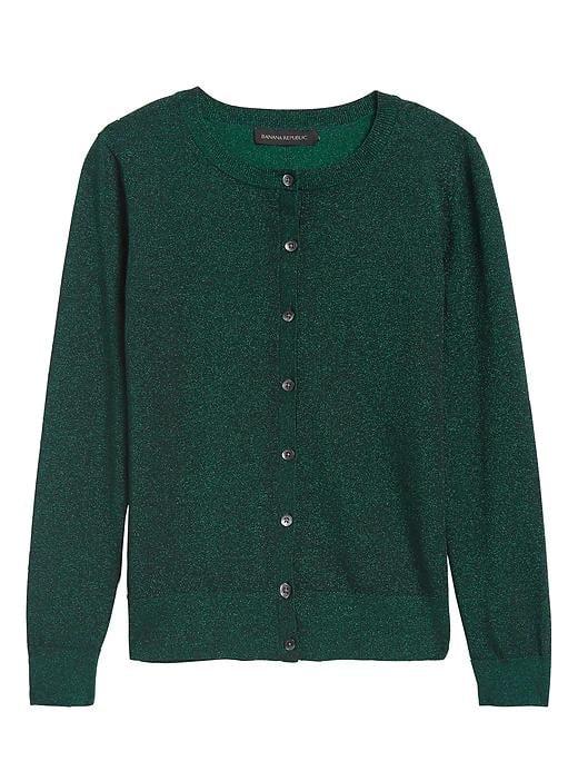 Metallic Cardigan Sweater
