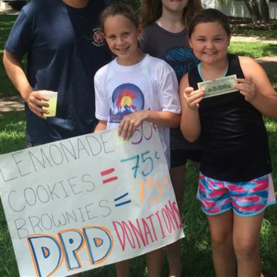 Girls Raise $10,000 For Dallas Police With Lemonade Stand