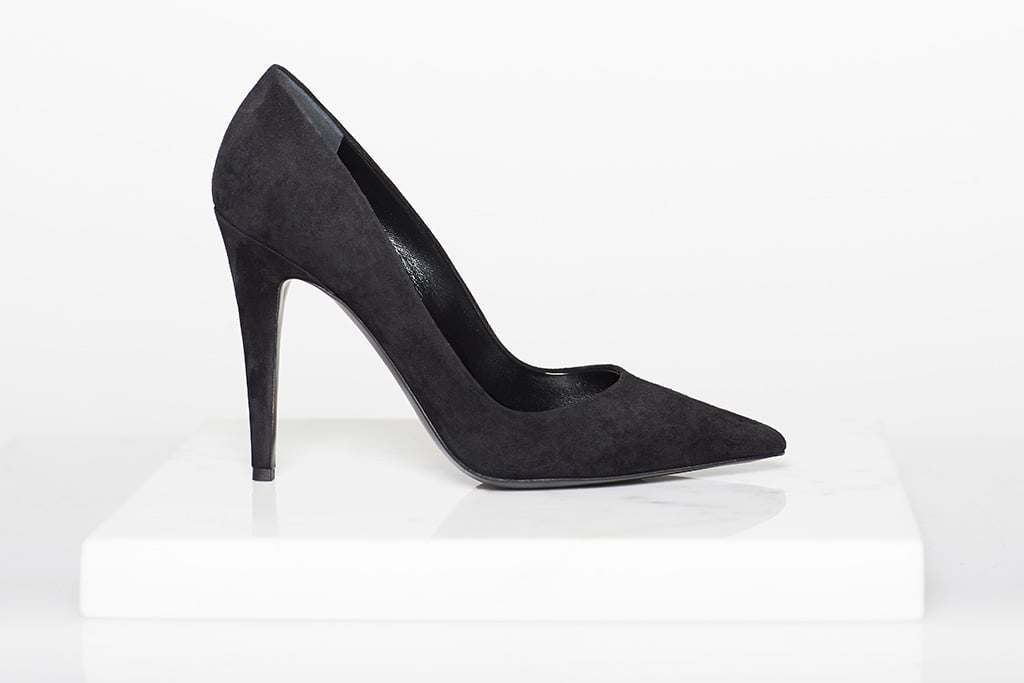 Addiction Suede Pump in Black ($525) Photo courtesy of Tamara Mellon
