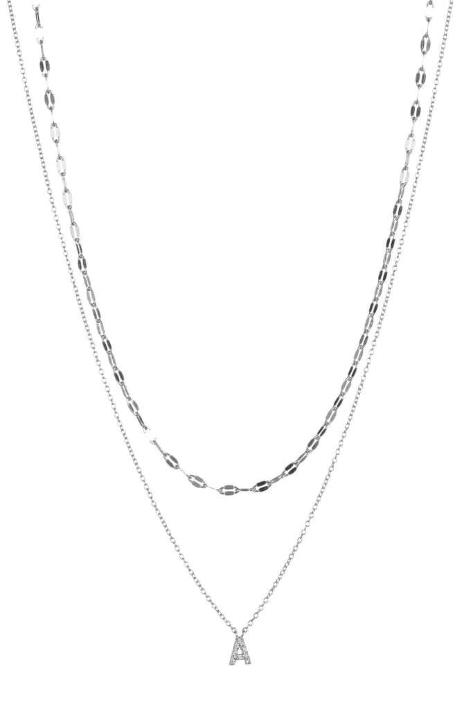 Nordstrom rack double layer cz initial pendant necklace sarah nordstrom rack double layer cz initial pendant necklace mozeypictures Images