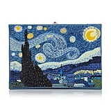 Olympia Le Tan Van Gogh Appliquéd Embroidered Canvas Clutch