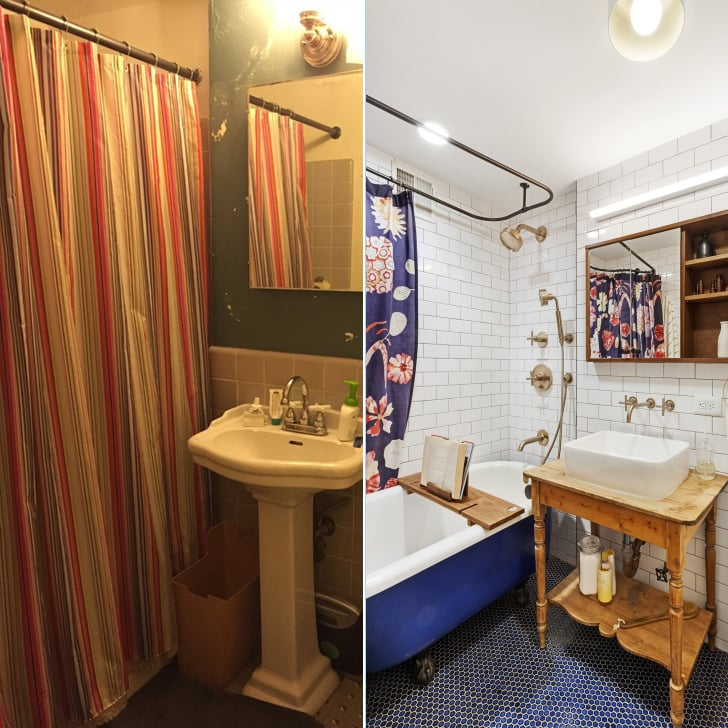 Small Bathroom Before And After.Small Bathroom Remodels Before And After Popsugar Smart Living