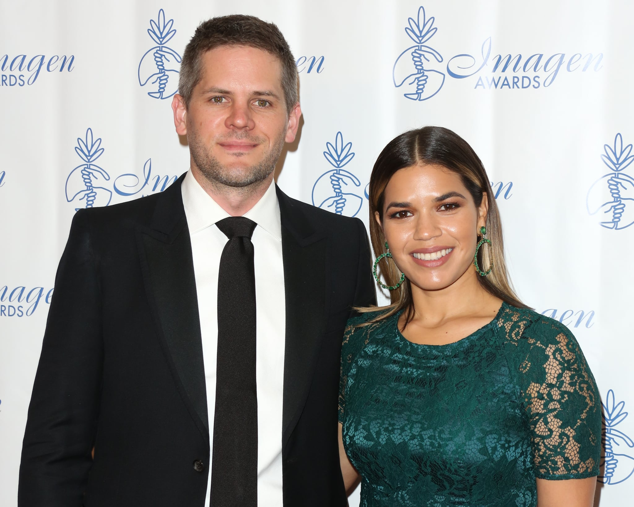 BEVERLY HILLS, CA - AUGUST 18:  Actors America Ferrera (R) and Ryan Piers Williams (L) attend the 32nd Annual Imagen Awards at the Beverly Wilshire Four Seasons Hotel on August 18, 2017 in Beverly Hills, California.  (Photo by Paul Archuleta/FilmMagic)