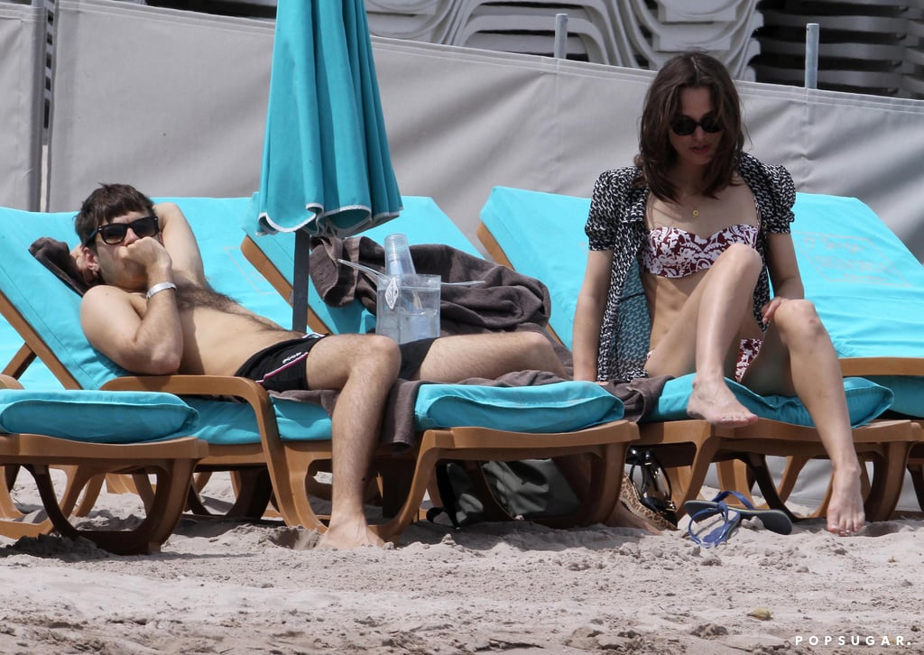 Keira Knightley and James Righton lounged in Corsica.