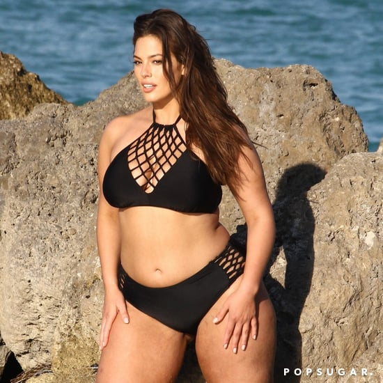Ashley Graham's Black Lace-Up Bikini