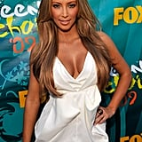 Kim Kardashian debuted blonde locks at the Teen Choice Awards in LA in August 2009.