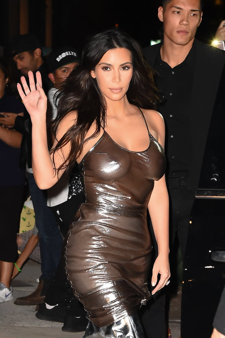 Kim Kardashian In See Through Dress In Nyc September 2016