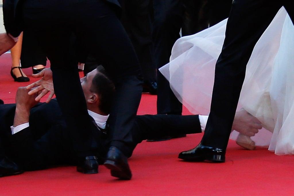 Man Crawls Under America Ferrera's Dress at Cannes