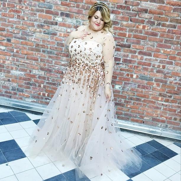 Nicolette Mason in Christian Siriano Wedding Dress
