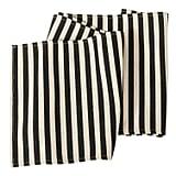 Black and Cream Stripe Burlap Table Runner ($14)