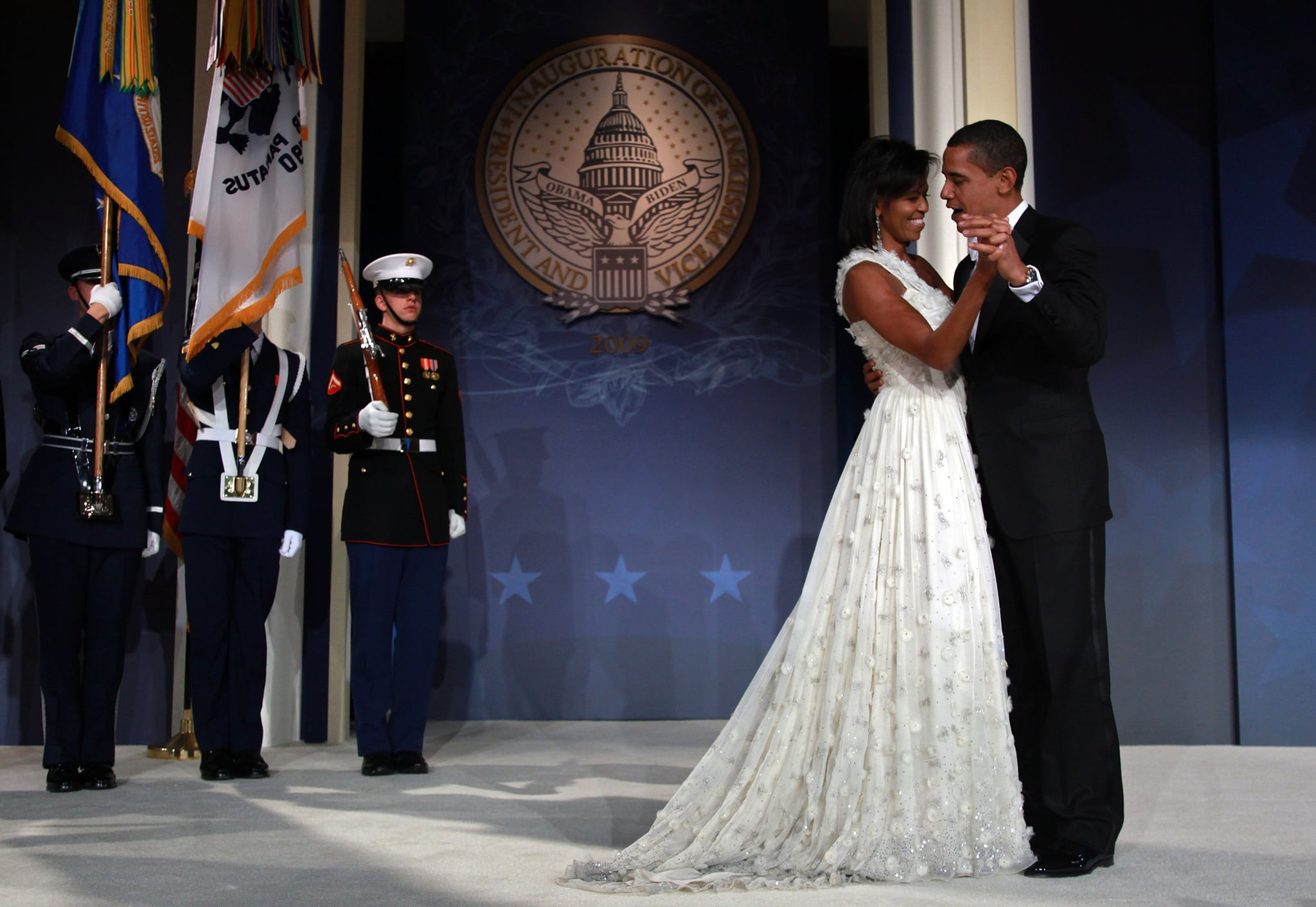 How could we ever forget the white ethereal Jason Wu gown Michelle wore on the night of President Obama's inaugural ball? It was a remarkable dress.