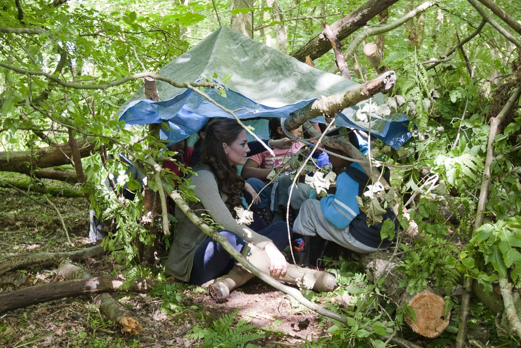 Kate Middleton Goes Camping With Kids For Charity