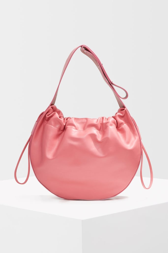 Topshop Premium Leather Drawstring Bag