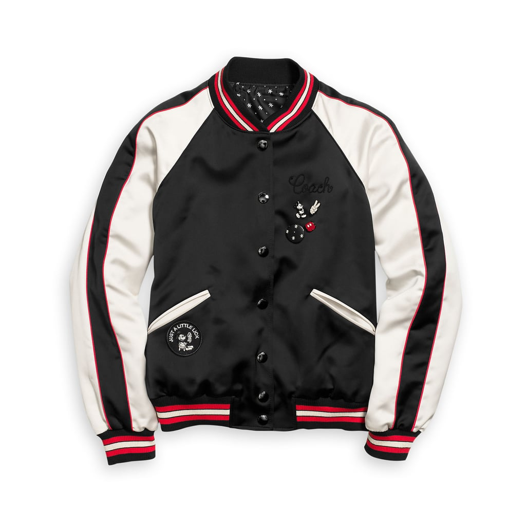 Mickey Mouse Reversible Varsity Jacket For Women by Coach ($430)