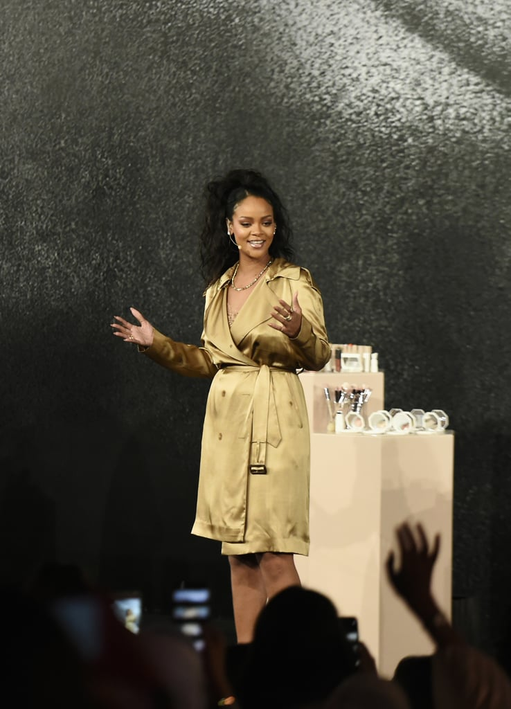 Rihanna Trench Dress at Fenty Beauty Dubai Event 2018