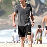 Bradley Cooper hit the beach in Brazil.