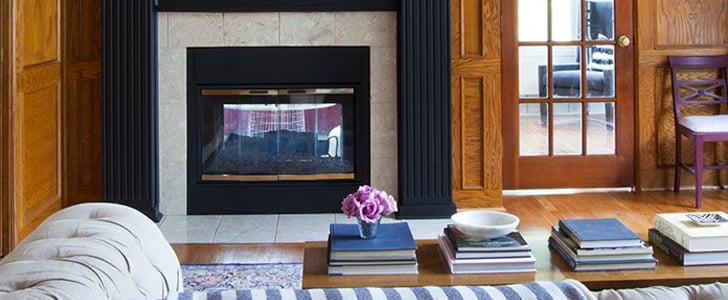 How to Paint a Wood Fireplace
