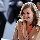 "France's ""unofficial"" first lady, Valérie Trierweiler, smiled during the festivities."