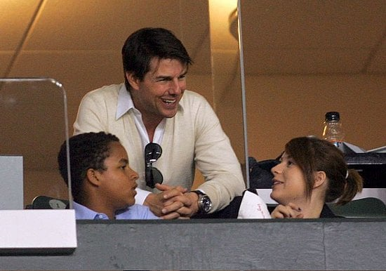 Tom Cruise took Connor and Isabella to see the LA soccer game.