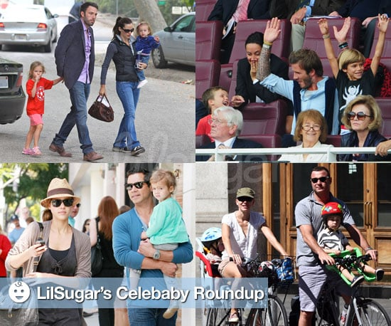 Pictures of Jessica Alba, Madonna, Heidi Klum, Liev Schreiber, Naomi Watts and David Beckham With Thei Kids