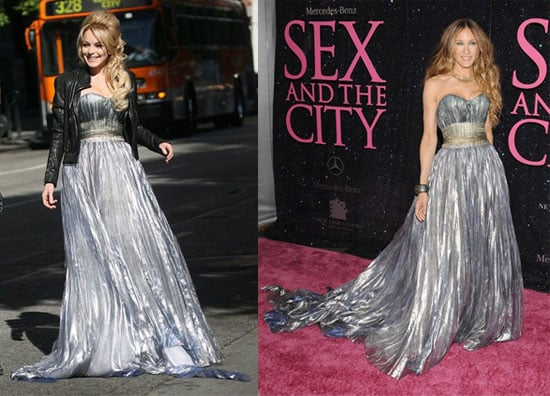 Who Wore It Better? Nina Ricci Metallic Gown