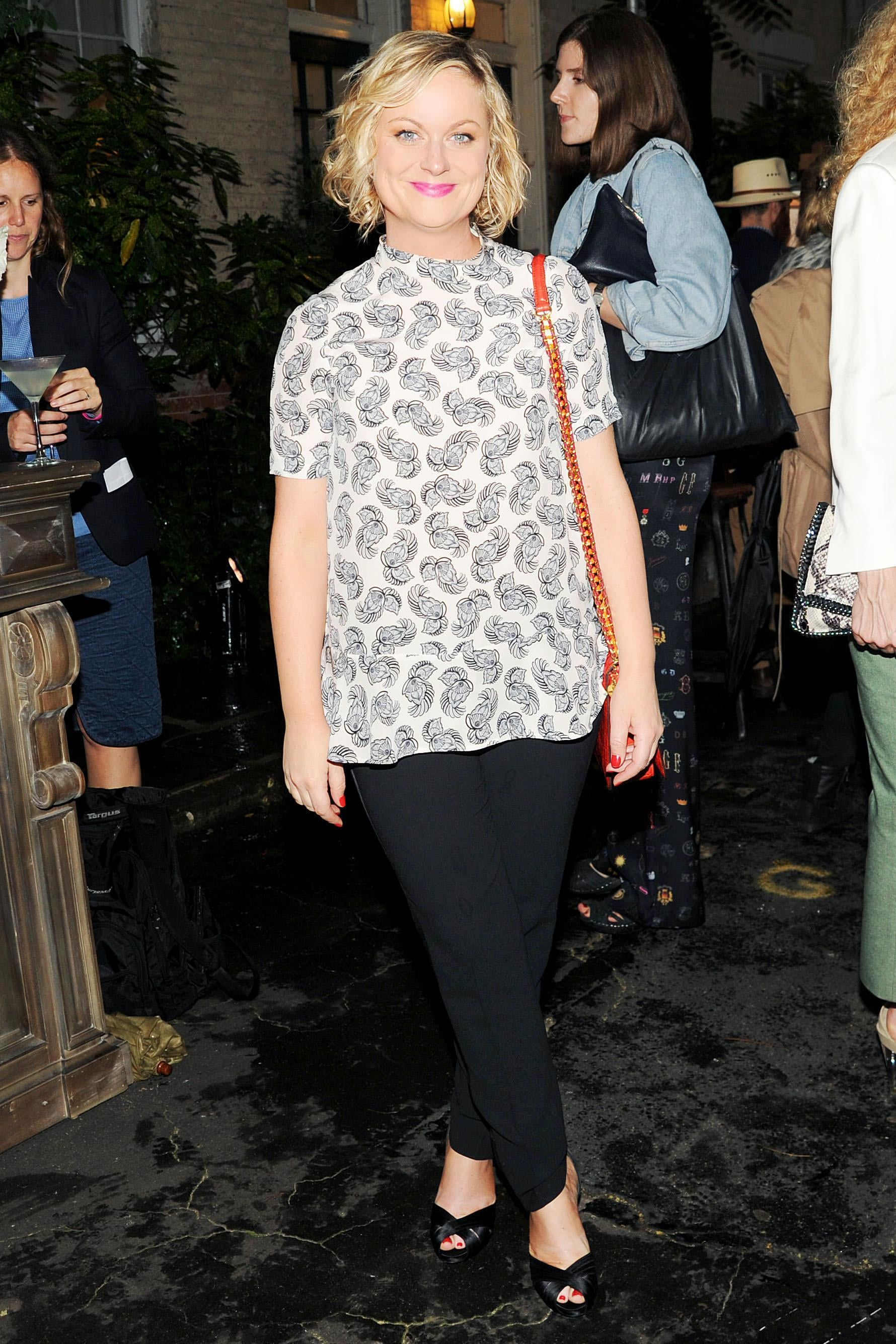Amy Poehler at Stella McCartney's Resort 2014 presentation. Source: Billy Farrell/BFAnyc.com