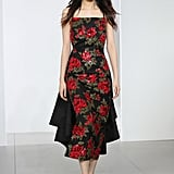 We can envision Melania slipping into this floral beaded dress for her next formal occasion.