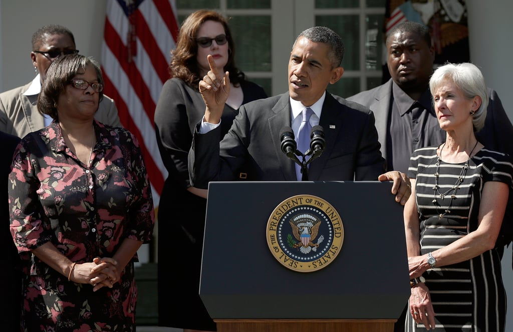 President Obama spoke about the government shutdown and the launch of the Affordable Care Act from the White House in DC.
