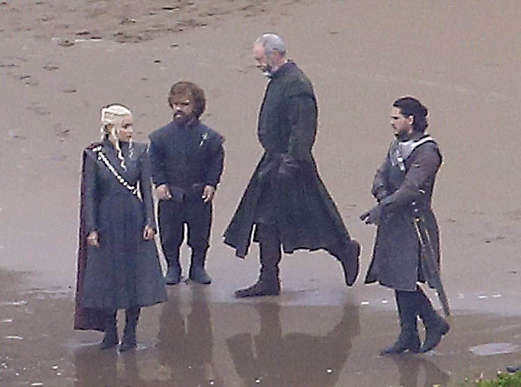 "We only know a handful of details about the seventh season of Game of Thrones, but a few new pictures from the set have us more excited than ever. In October, stars Kit Harington, Emilia Clarke, and Peter Dinklage were spotted filming together in Spain. This is pretty insane; given where the characters are at the end of season six, Jon Snow has just taken over the North as king, and Dany and Tyrion are sailing for King's Landing with the Greyjoys' Iron Fleet. And somehow, at some point, the two parties will cross paths. We know Dany and Jon are actually relatives, and based on the ""ice and fire"" theory, this could be the beginning of a truly epic takeover.          Related:                                                                The Walking Dead: Wondering How Negan Dies in the Comics?                                                                   Game of Thrones: The First Peeks Behind the Scenes of Season 7"