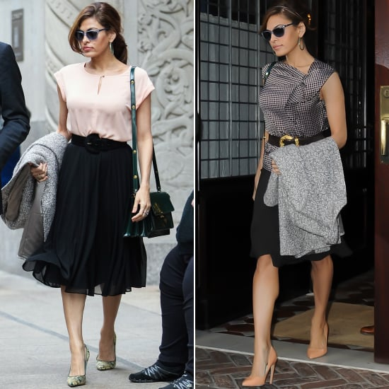 Eva Mendes Wearing New York & Co. Collaboration Clothes