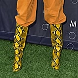 Kendall Jenner's Yellow Snakeskin Boots